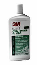 New 3M Marine Restorer and Wax Fiberglass Gelcoat RV Boat Yacht Restoration 16oz