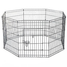 Pet Cage 8 Panel Foldable PlayPen Dog Puppy  Run Fence Crate Outdoor Indoor