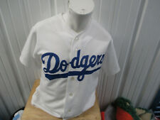VINTAGE MAJESTIC LOS ANGELES DODGERS SEWN MEDIUM WHITE HOME JERSEY BROOKLYN