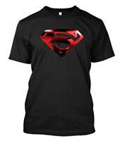 smallville Superman Red Logo  - Custom Men's T-Shirt Tee