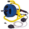"""Plumbing Auger Cable Drum Machine 5/16"""" x 50 ft Durable Lightweight Steel Frame"""