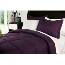 Lotus Home 2 Piece Water and Stain Resistant Twin Comforter Set Purple $132