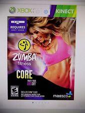 Zumba Fitness Core (Xbox 360) FREE USA SHIPPING