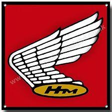 VINTAGE HONDA LOGO SQUARE METAL SIGN.CLASSIC JAPANESE MOTORCYCLES,