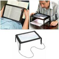 1x Full Page 3x Magnifier With LED Lights Magnifying Glass Reading Lens Aid T3X1