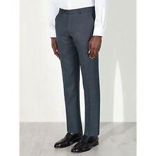 JOHN LEWIS Super 100s Wool Birdseye Trousers, Cornflower Blue Size 32S £80 BNWT
