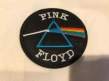 """3"""" PINK FLOYD Dark Side of the Moon Iron On Embroidered Patch Prism patches"""