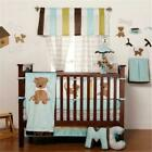 One Grace Place 10-33102 Puppy Pal Boy Baby 4 Piece Crib Bedding Set