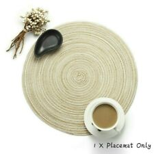 Weave Round Table Mats Insulation Dinner Placemat Non Slip Bar Supplies
