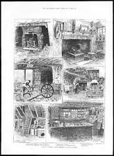 1885 viste Surrey & Kent Aldington Noce Albero & SHERE WHITE HORSE INN (232)