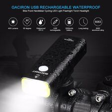 LED Front 400 Lumens, 2 x Rear Bicycle light CREE USB Headlight Rechargeable Set