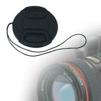 58MM Plastic Front Lens Cap With String Cover Accessory For SLR Camera DSLR B2L6