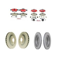 Mercedes Benz W211 E320 E350 Front and Rear Vented Brake Rotors with Pads Kit