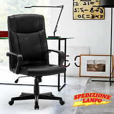 Sedia Girevole Da Ufficio direzionale imbottita per casa ufficio nero TOULOU