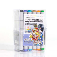 Copic Sketch Markers Comic Illustration Set of 24! Free Shipping w/ Tracking!