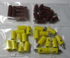 40 Stecker/Querlochstecker und Muffen 2,6mm - gelb,braun (Stck 22,38 ct)  *NEU*