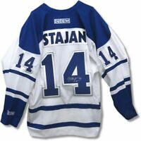 Matt Stajan Signed Autographed White Toronto Maple Leafs CCM Official Jersey COA