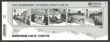 GB 2019 STAMPEX OVERPRINT D-DAY NORMANDY LANDINGS MILITARY M/SHEET MNH