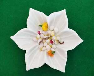 Handmade Lotus Fruit Decorative Hand Carved Bowl Uruli For Home Table Decor