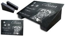 Hunde Grabstein mit Ihrem Foto Grabplatte Tiergrabstein Gedenkplatte Grabmal Hg3