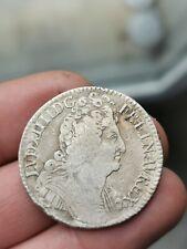 1/2 écu argent aux 3 couronnes Louis XIIII 1710 A ! 14,89 g