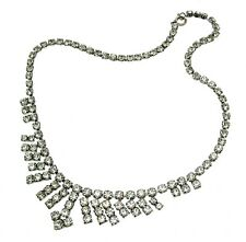 Vintage Jewellery Rhinestone Jewellery Diamante Jewellery Prom Necklace 22