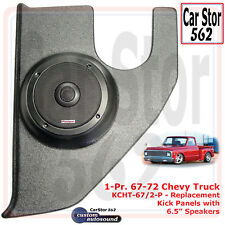 "Custom Autosound KCHT-67/2-PIO Kick Panels&6.5"" Speaker 67-72 Chevy Pickup Truck"
