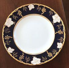 ROYAL CROWN DERBY ENGLISH BONE CHINA VINE COBALT BLUE SALAD PLATE A 810 XXXV