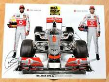 Lewis Hamilton 6X Jenson Button 1X F1 WORLD CHAMPIONS signed poster A/3