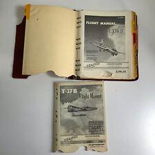 1958-1959 Flight Manual T-37A & T-37B Original Binder