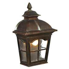 Searchlight 1 Light Brown Finish Half-lantern Garden Outdoor Wall Light Lantern