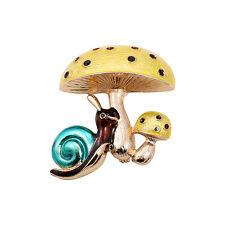 Nice Quality Yellow Enamel Mushroom Snail Pin Brooch
