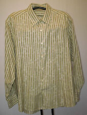 Tommy Bahama TB Silk Blend Mens Long Sleeve Shirt Size XL Green Stripe