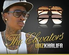 (2) PAIRS Black & Brown THE ELEVATOR Sunglasses wiz khalifa hip hop millionaire