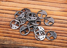 NF40 Wholesale Lot 30PCS Silver New Round Clasp For Leather Bracelets Findings