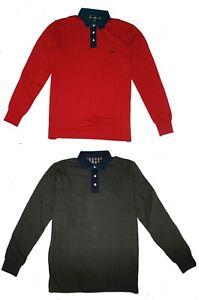 Harmont & Blaine Mens Cotton Jersey Long Sleeve Polo Shirt top T shirt M - 4XL