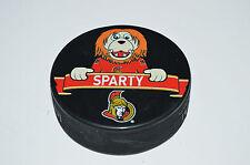 """Ottawa Senators Mascot Team Logo SOUVENIR PUCK """"Sparty"""" Rare Variant Spartacat"""