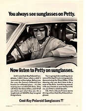 1971-1972 RICHARD PETTY / COOL-RAY POLAROID SUNGLASS  ~  ORIGINAL PRINT AD