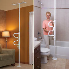 Versatile Curved Secure Grab Bar Rail Pole - Floor To Ceiling Easy Installation