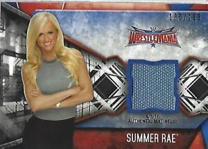 2017 Topps WWE Women's Division Mat Relics #MRSUM Summer Rae WrestleMania 32/199