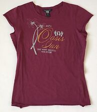 Abercrombie & Fitch Girl's Large 10 12 Burgundy Tee T-Shirt