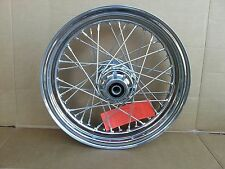Chrome Front 16X3 40 Spoke Wheel 3/4 in Axle for Harley 00-06 CLEARANCE was$285