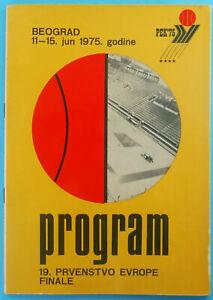 FIBA EURO BASKET 1975. ( European Basketball Championship ) - official programme