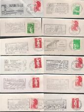 FRANCE Thematic slogan postmarks Bridges/Viaducts 65 all different
