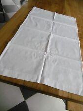 Rideau  en piqué de coton blanc avec monogramme G