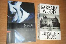 DRACULA BRAM STOKER Y CURSE THIS HOUSE BARBARA WOOD, LIBROS EN INGLES