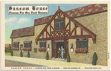 Sansom House Restaurant in Philadelphia PA Postcard