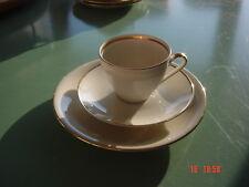 Kaffeetasse Kuchenteller Elfenbein Goldrand Porzellan Bavaria