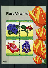 Togo 2014 MNH African Flowers 4v M/S II Fleurs Africaines Violet Iris Hibiscus