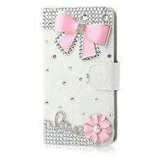 New Handmade Magnetic Bling Luxury Diamonds Crystal Leather wallet Cover Case #I